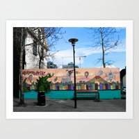 Colorful Place to Sit Art Print