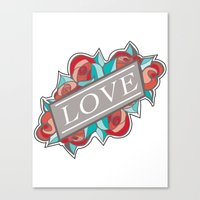 Love & Roses Canvas Print