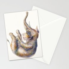 Falling Elephant Stationery Cards