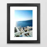 Santorini Lounge Framed Art Print