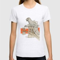 Godzilla Vs. The Brookly… Womens Fitted Tee Ash Grey SMALL