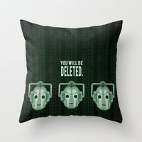Doctor Who: Cybermen Print Throw Pillow