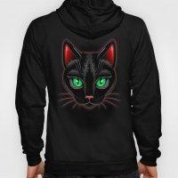 Black Cat Portrait Hoody