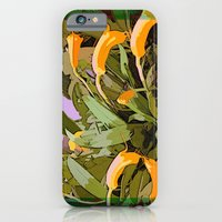 iPhone & iPod Case featuring Orchids Tangerine by ArtistsWorks