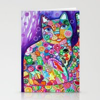 Candy cats Stationery Cards