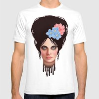 Goth Girl Tears Mens Fitted Tee White SMALL