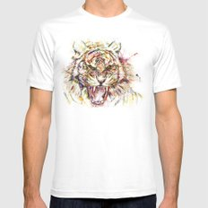 Tatewari Ute'a Tiger SMALL Mens Fitted Tee White