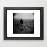 Overlooking the Mountains Framed Art Print