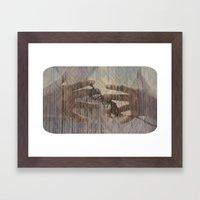 hands can hold Framed Art Print
