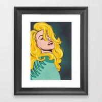 Blond Popart Framed Art Print