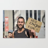 Men can stop rape Canvas Print