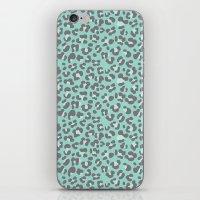 Leopard Acqua iPhone & iPod Skin
