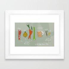 White Bean Bacon Stew Framed Art Print