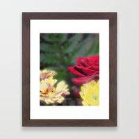 Flowers at Day Framed Art Print