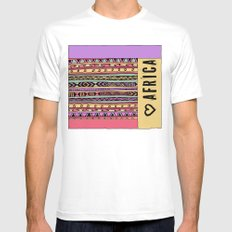 love africa SMALL White Mens Fitted Tee