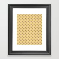 Yellow And Orchid Polka … Framed Art Print