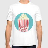Pop Corn Mens Fitted Tee White SMALL