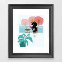 Drink A Cup Of Coffee Framed Art Print