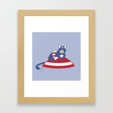 Captain AmeriCAT: The First Catvenger Framed Art Print