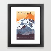 Denali National Park Travel Poster Framed Art Print