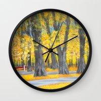 Golden park Wall Clock