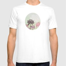 Inflorescence White Mens Fitted Tee SMALL
