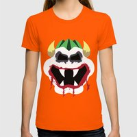 Joke's On You Bowser Womens Fitted Tee Orange SMALL