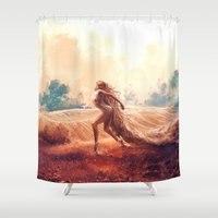 ARIES from the Dancing Zodiac Shower Curtain