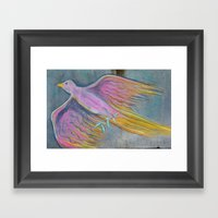 Bird Of A Different Feat… Framed Art Print