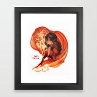 Ava's Demon Framed Art Print