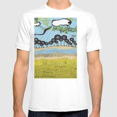id escaped album artwork, ANALOG zine Mens Fitted Tee SMALL White