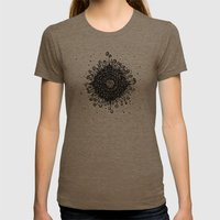 Mandala Womens Fitted Tee Tri-Coffee SMALL