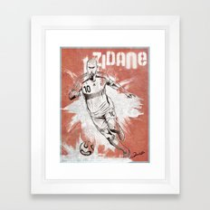 Zinedine Zidane Framed Art Print