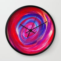 Red Cyclone Wall Clock