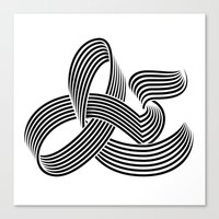 Eye bending Ampersand. Canvas Print