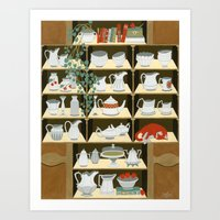 China cabinet Art Print