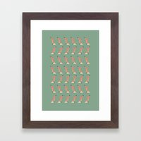 Freddie the Fox - Pattern Framed Art Print