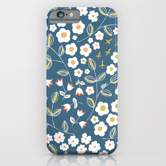 Ditsy Blue iPhone & iPod Case