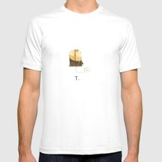 T is for Tea. White Mens Fitted Tee SMALL
