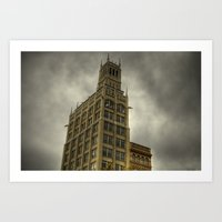 Jackson Building in Asheville, NC Art Print