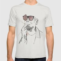 The Urban Heritage Mens Fitted Tee Silver SMALL