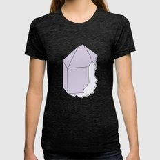 Amethyst Quartz Womens Fitted Tee Tri-Black SMALL