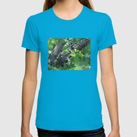 Hunger Womens Fitted Tee Teal SMALL