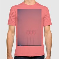 Triple Exposed Palm Trees Mens Fitted Tee Pomegranate SMALL