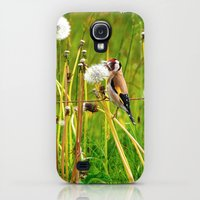 Galaxy S4 Cases featuring Europan goldfinch in late Spring by UtArt