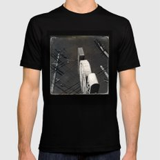 The Wizz take 2, Black and White San Francisco SMALL Mens Fitted Tee Black
