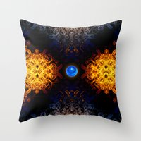 Earth And Fire Throw Pillow