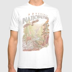 Adventure National Parks Mens Fitted Tee White SMALL
