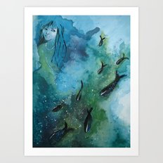 Fish In A Row Art Print