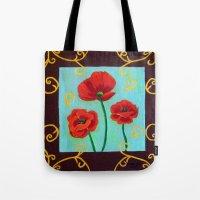 Poppies-4 Tote Bag